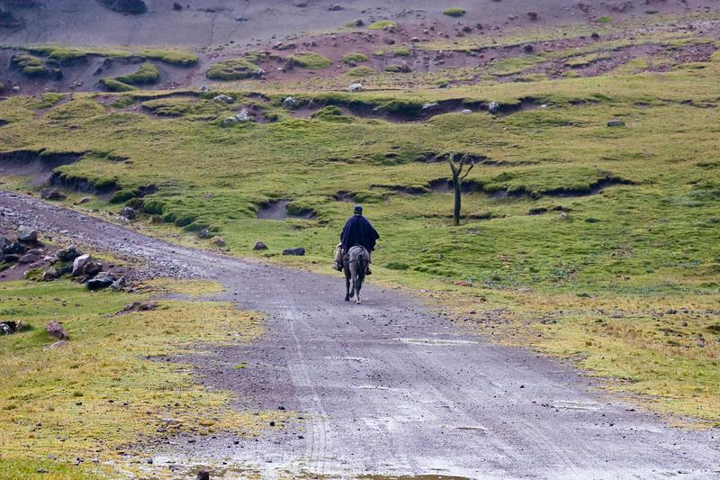 Ecuadorian caballero, or horseman. Typical transportation in rural areas of Ecuador.