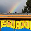 Rainbow in Quito, Ecuador.
