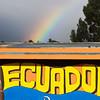 Rainbow in Quito, Ecuador.