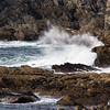 Atlantic seacoast cliffs and rocks on Achill Island off the west coast of Ireland.