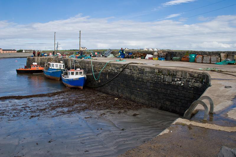 Fishing Boats at Kilbaha Fishing Village on the Loophead Peninsula, County Clare, Ireland