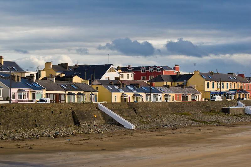 Kilkee, a resort town in Ireland, on the Loophead Peninsula.