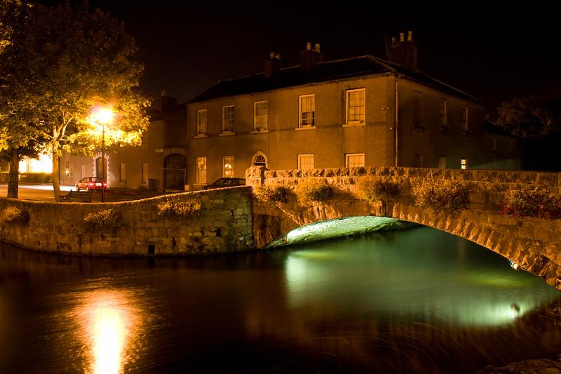 Night Scenes in the village of Westport in County Mayo, Ireland