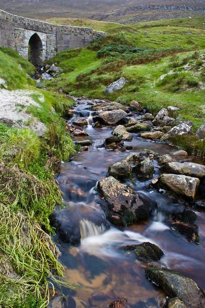 Waterfall at Keen Bay on Achill Island, County  Mayo, Ireland