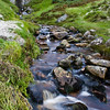 Waterfall at Keen Bay on Achill Island, County  Mayo, Ireland