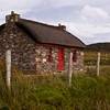 Famine Cottage on Achill Island in County Mayo, Ireland. Famine cottages were homes abandoned by the dead and starving during the Irish Famine.