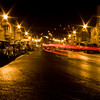 Night Scenes in the village of Westport in County Mayo, Ireland