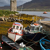 Fishing Boats on Achill Island, an island in Clew Bay, in County Mayo, Ireland
