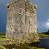 Rockfleet Castle, a Grace O'Malley defense castle on Clew Bay in County Mayo, Ireland
