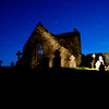 Burrishole Abbey at night, in County Mayo, Ireland