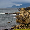 Atlantic seacoast cliffs and rocks on Achill Island off the west coast of Ireland.