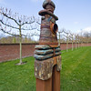 Art statue at Keukenhof Gardens in The Netherlands.