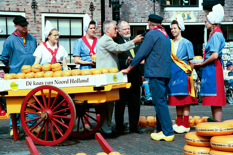 Edam Cheese Market in The Netherlands, at the town of Edam.