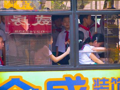School Children on a Bus