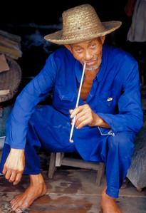 Fisherman smoking a Cigarette
