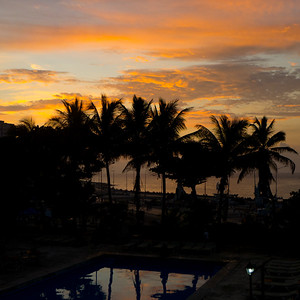 Sunset over the Hotel Nacional