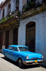 Vintage Blue Pontiac