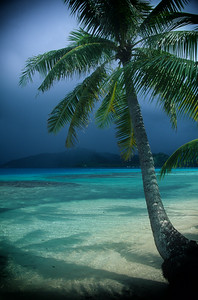 Bora Bora blue before the storm