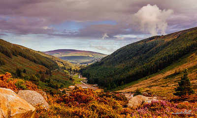 Early evening light on Glendalough Valley
