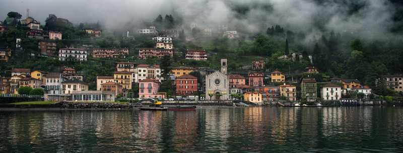 Village on Lake Como, Italy - 2015