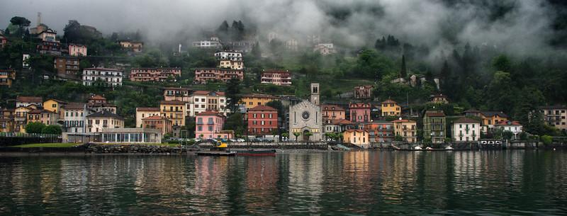 Village on Lake Como, Italy - 2015