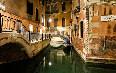 Venice at Night, Italy - 2015