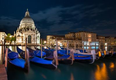 Basilica di Santa Maria della Salute at Night, Venice, Italy - 2015