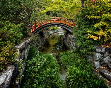 Red Bridge, Shimogamojinja, Kyoto, Japan - 2014