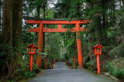 Hakone Shrine, Hakone, Japan - 2014