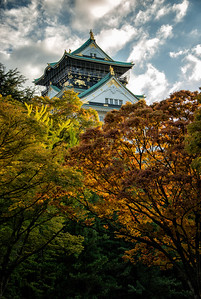 Osaka Castle with Fall Colors, Japan - 2014