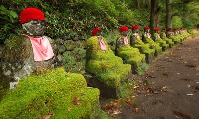 Guardians of the Kanman-ga-fuchi Abyss, Nikko, Japan - 2014