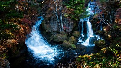 Fall Colors at Ryūzu Falls, Nikko, Japan - 2014