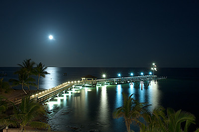 Moon Over key West