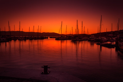 Sunset on the Knysna Waterfront
