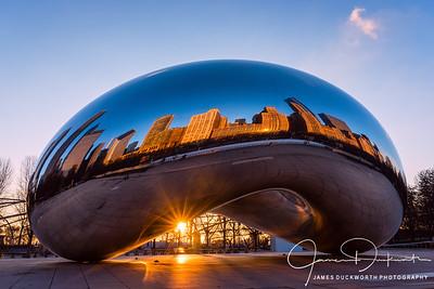 Chicago's Bean with Sunburst