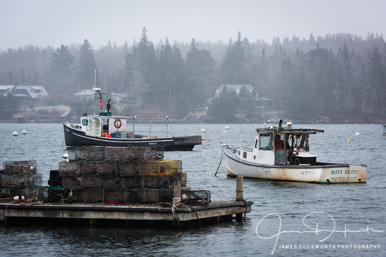 Lobster Boats on a Winter Morning, Southwest Harbor, Maine