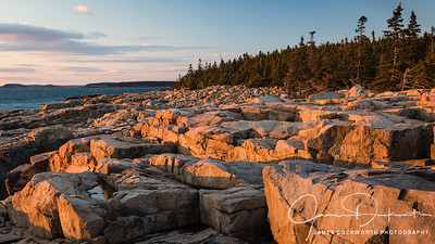 Sunset at Schoodic Point, Acadia National Park