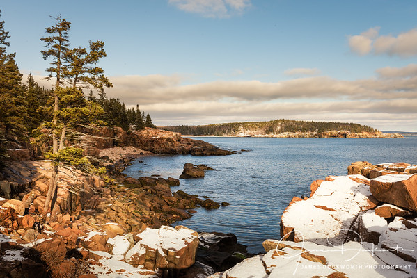 Winter in Acadia National Park, Maine