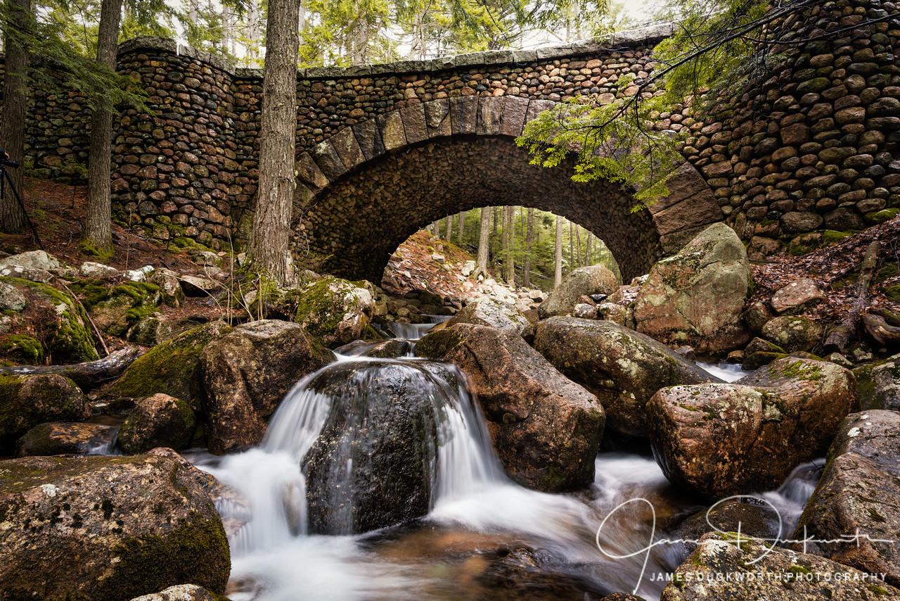 Cobbleston Bridge crossing Jordan Stream, Acadia National Park, Maine