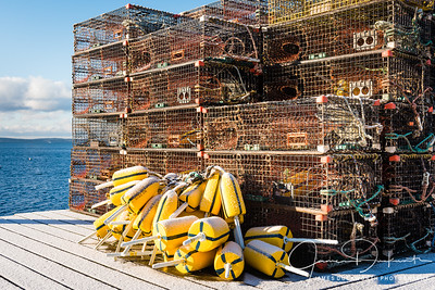 Lobster Buoys and Traps, Bass Harbor, Maine