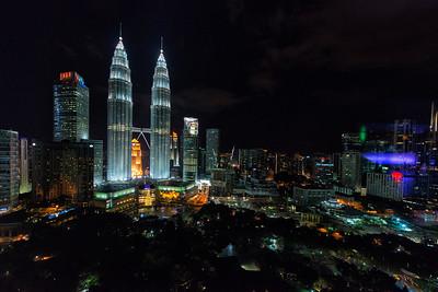 Petronas Towers at Christmas, Kuala Lumpur, Malaysia - 2015