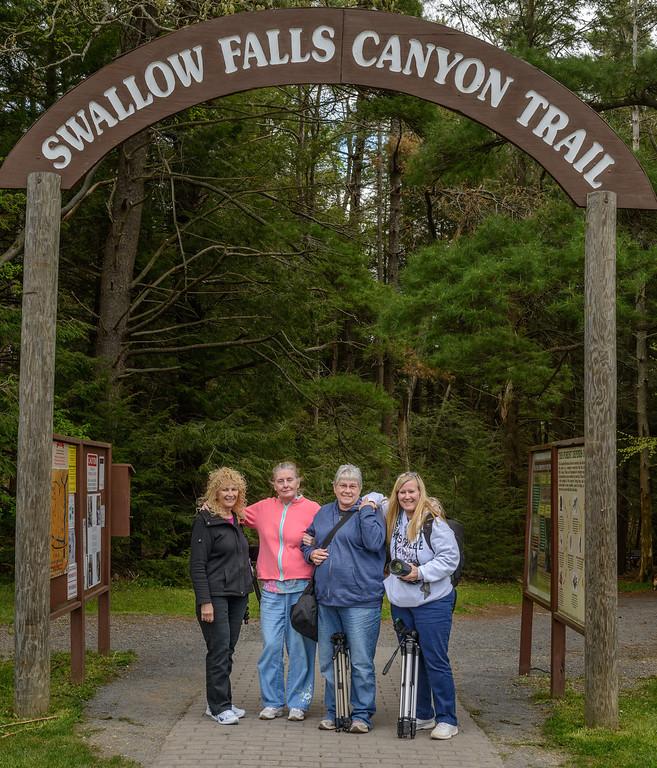 Photographers at Swallow Falls