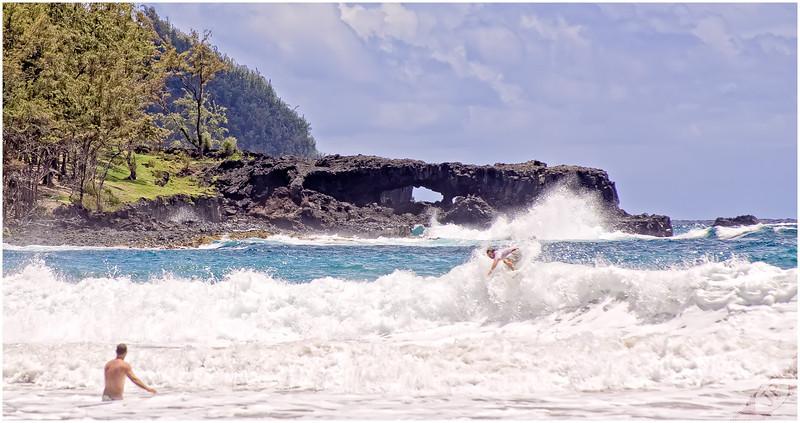 Surfing Koki Beach