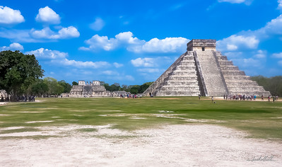 El Castillo, Temple of Kukulcan and Temple of Warriors
