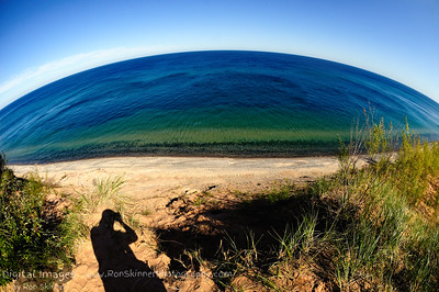 Lake Superior from Grand Sable Dunes with a Fisheye
