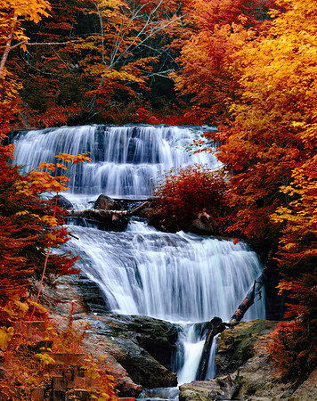"""Sable Falls - Pictured Rocks National Lakeshore - A Nik filter called """"Indian Summer"""" was used in CaptureNX2 to give the photo the """"fall color look"""""""