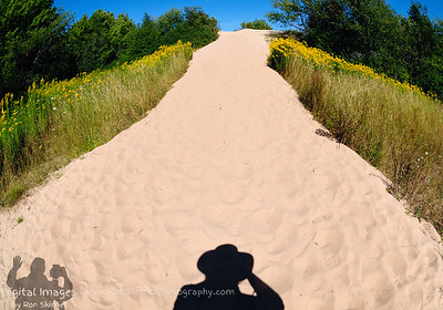 My Shadow taking a photo of a Sand Dune