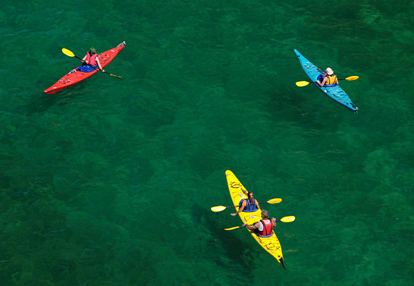 Kayakers near Miner's Castle - Pictured Rocks National Lakeshore