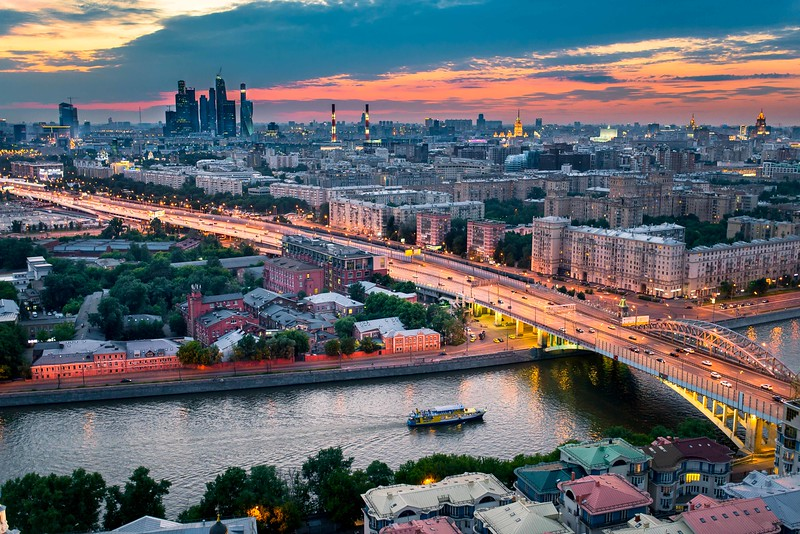 Twilight by Moscow River