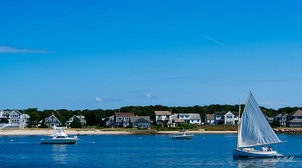 Cruising  around in Nantucket Harbor